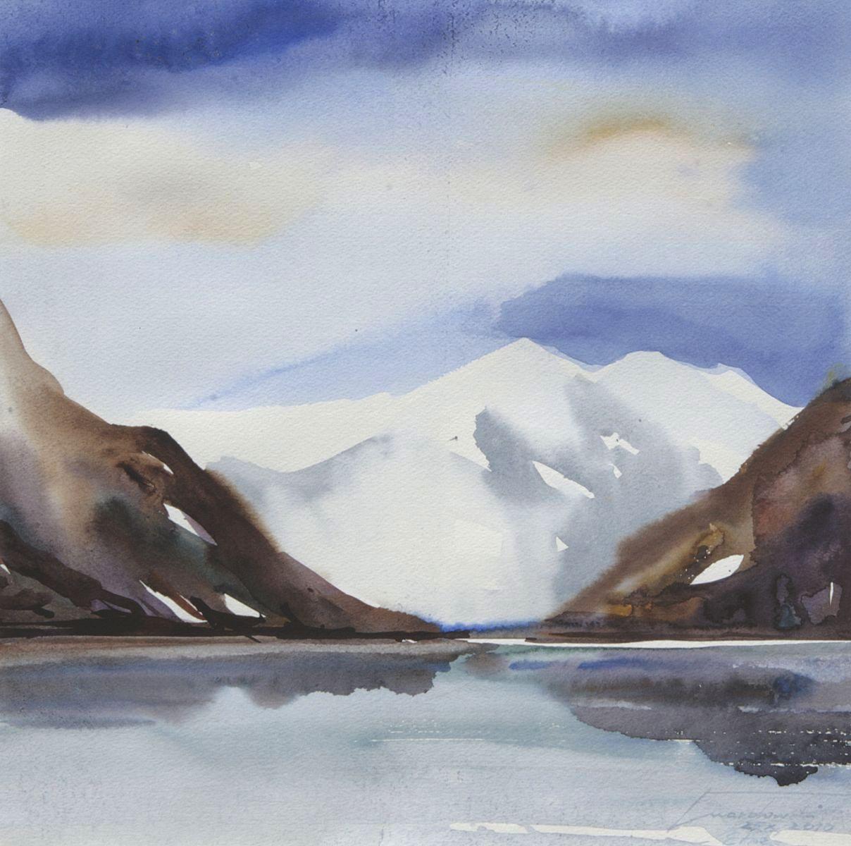 Zima w Etnefjord.