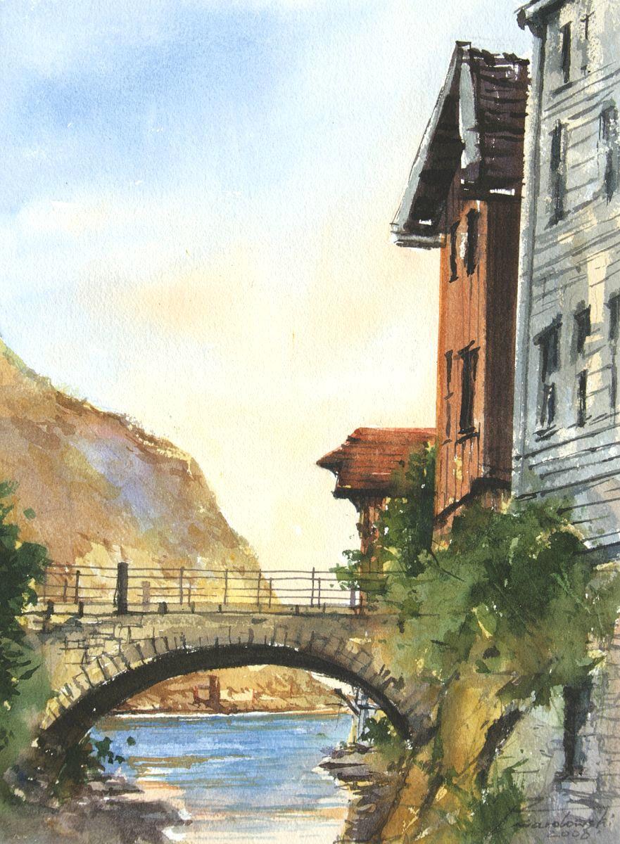 Sogndalstrand. 28x38 cm. Kazimierz Twardowski