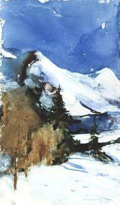 Zima w Telemarku. 35x50 cm. Kazimierz Twardowski