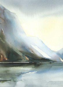 Z Norwegii. 28x38 cm. Kazimierz Twardowski