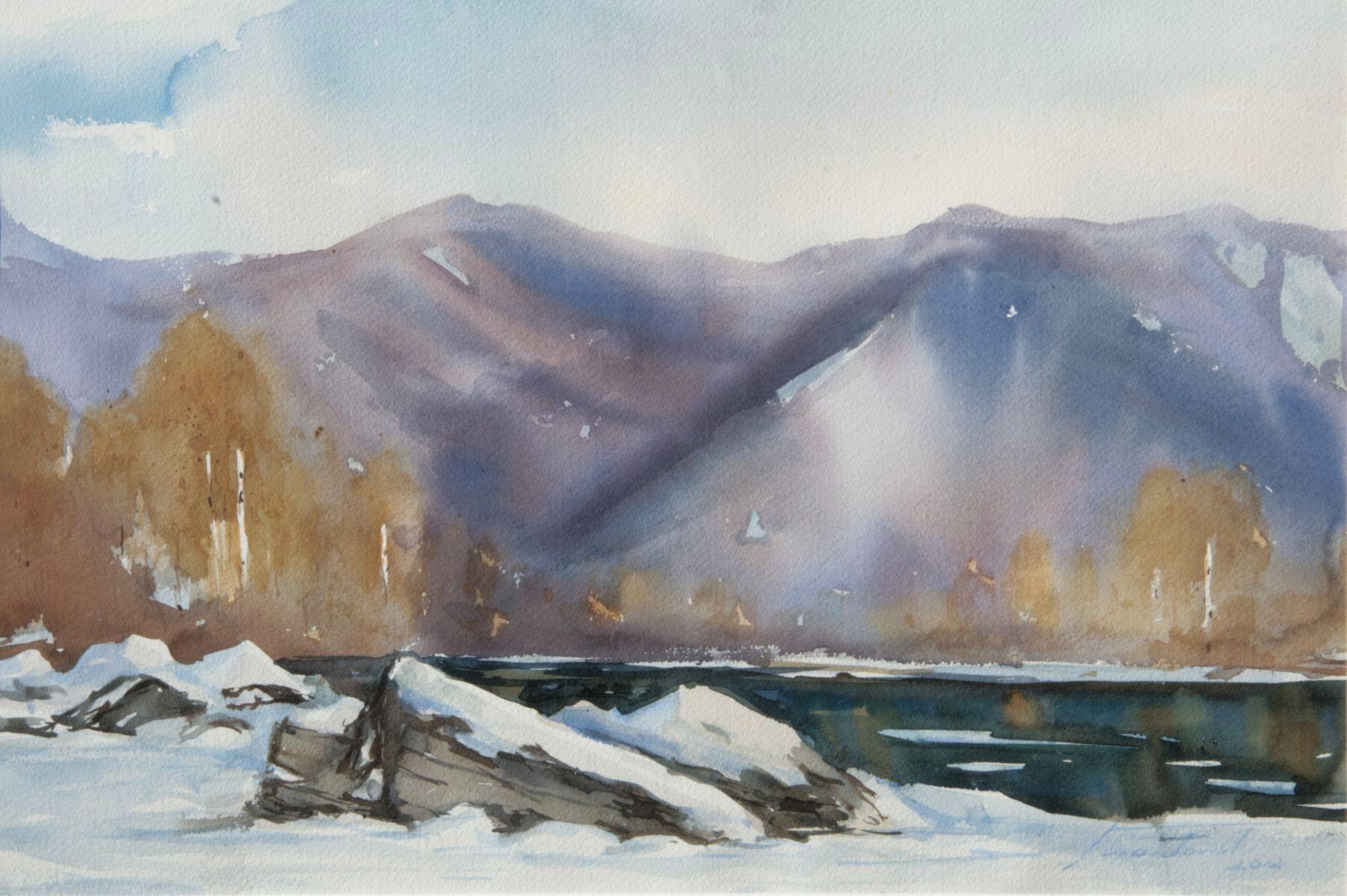 Zima w Tylmanowej. 76x56 cm. Kazimierz Twardowski