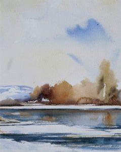 Zima. 40x50 cm. Kazimierz Twardowski
