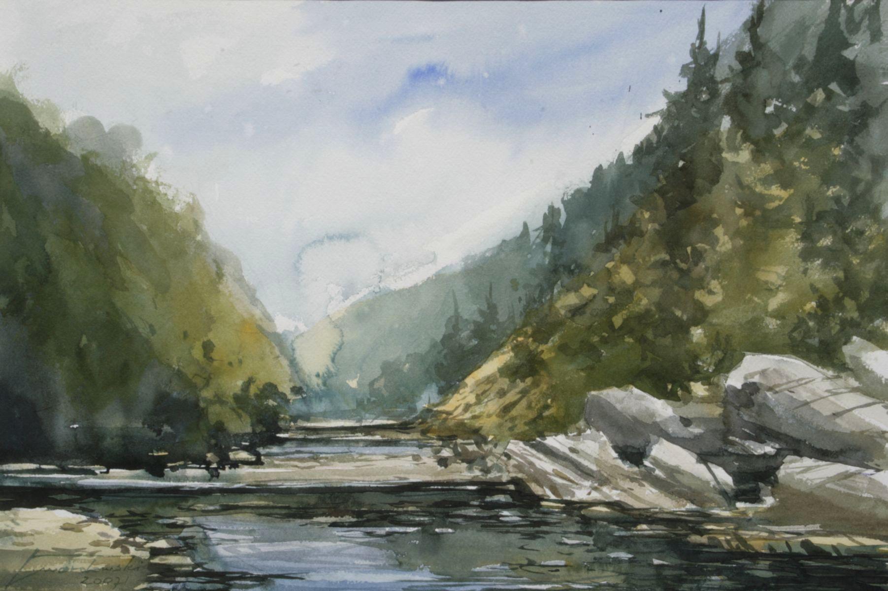 Nad rzeką Słomką. 56x38 cm. Kazimierz Twardowski