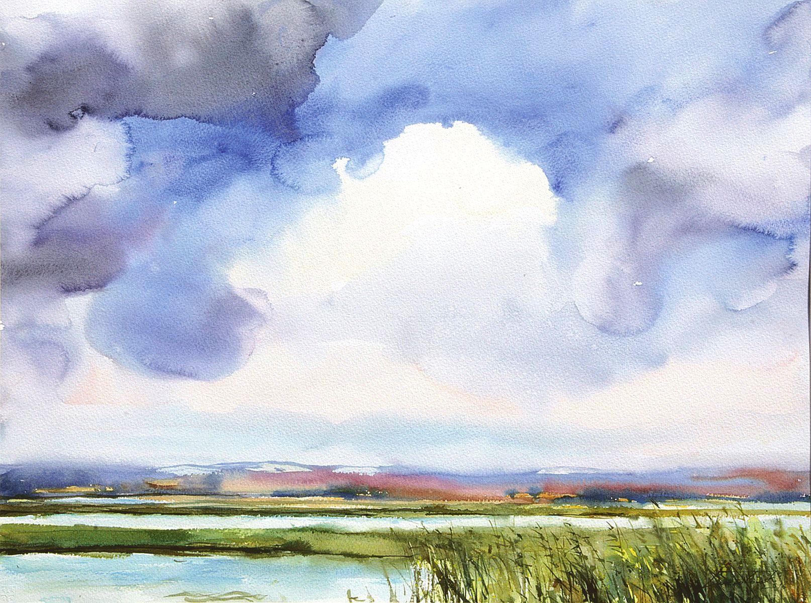 Chmury na Polesiu. 76x56 cm. Kazimierz Twardowski