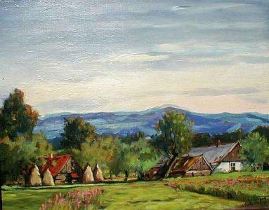 Stadła latem. 50x60 cm. Kazimierz Twardowski