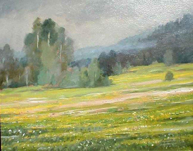 Majowa łąka. 65x50 cm. Kazimierz Twardowski