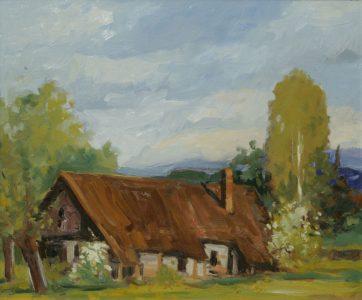 Motyw z Podegrodzia. 50x60 cm. Kazimierz Twardowski