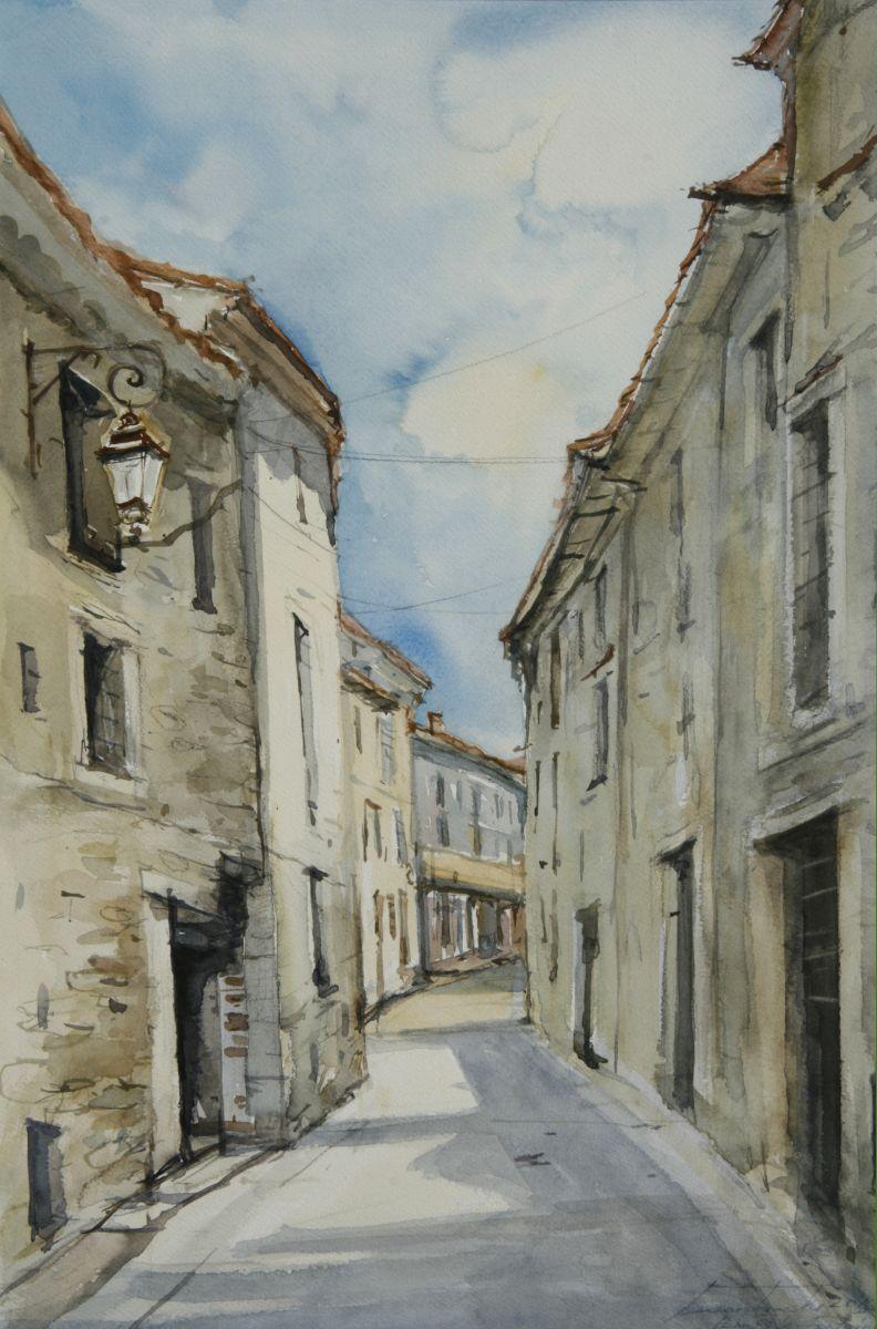 Uliczka w Prowansji. 38x56 cm.  Kazimierz Twardowski