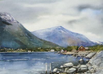 Grimo - Norwegia 76x56 cm.  Kazimierz Twardowski