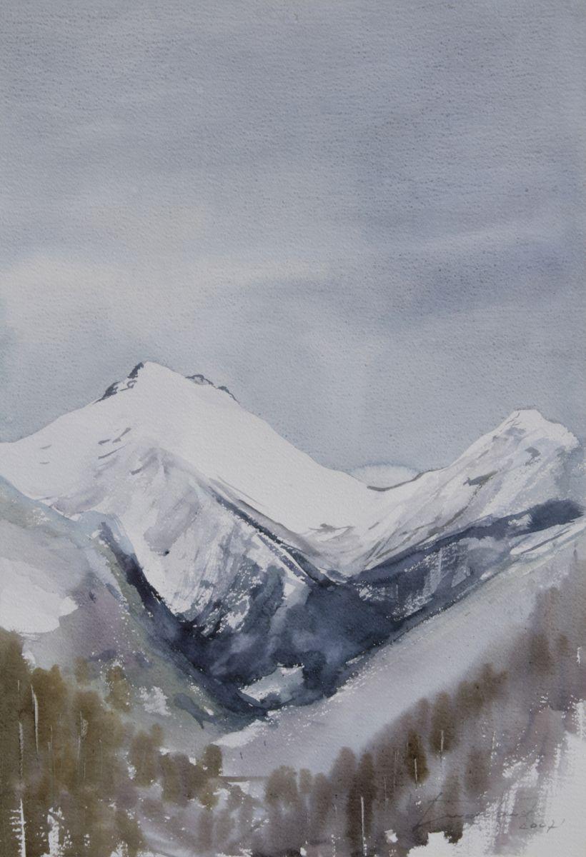 Krywań zimą. 50x70 cm.  Kazimierz Twardowski