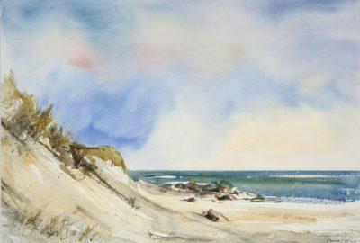 Plaża w Jaren. 56x38 cm.  Kazimierz Twardowski