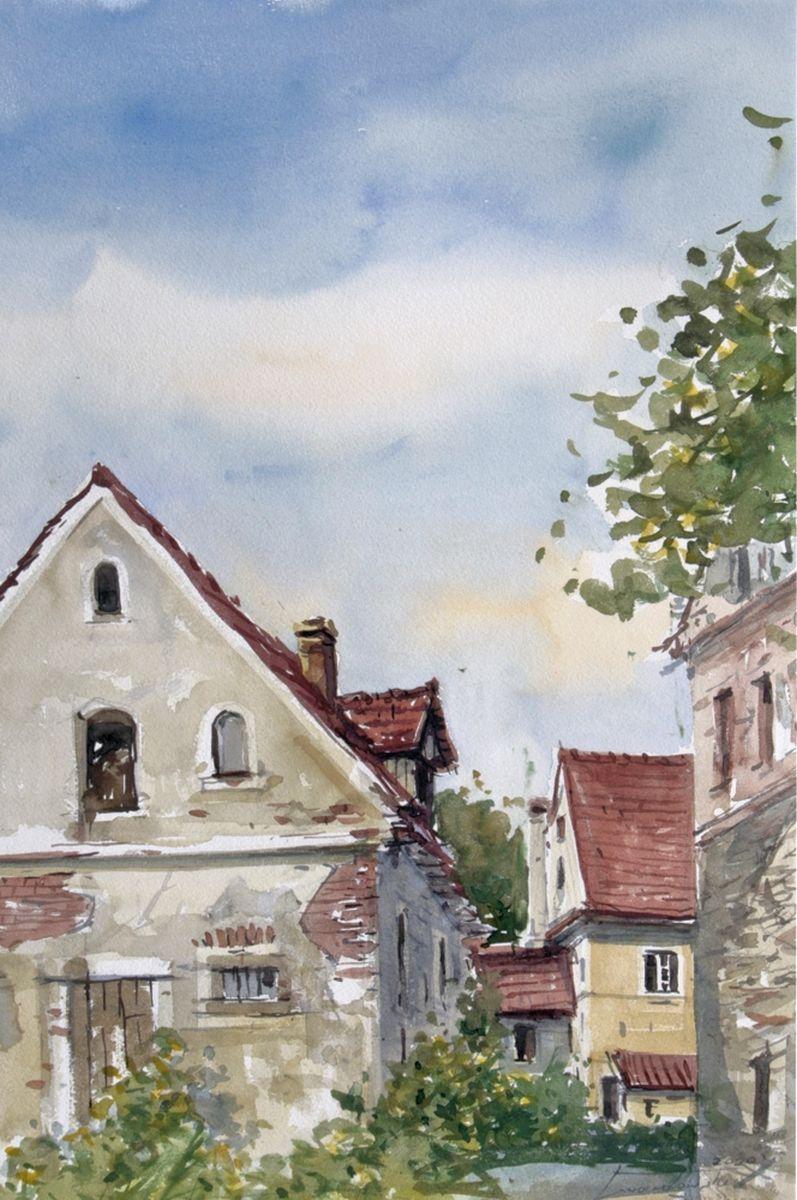 Motyw z Doliny Kłodzkiej. 38x56 cm.  Kazimierz Twardowski