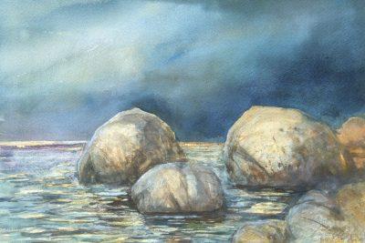 Głazy w Norwegii. 56x38 cm.  Kazimierz Twardowski