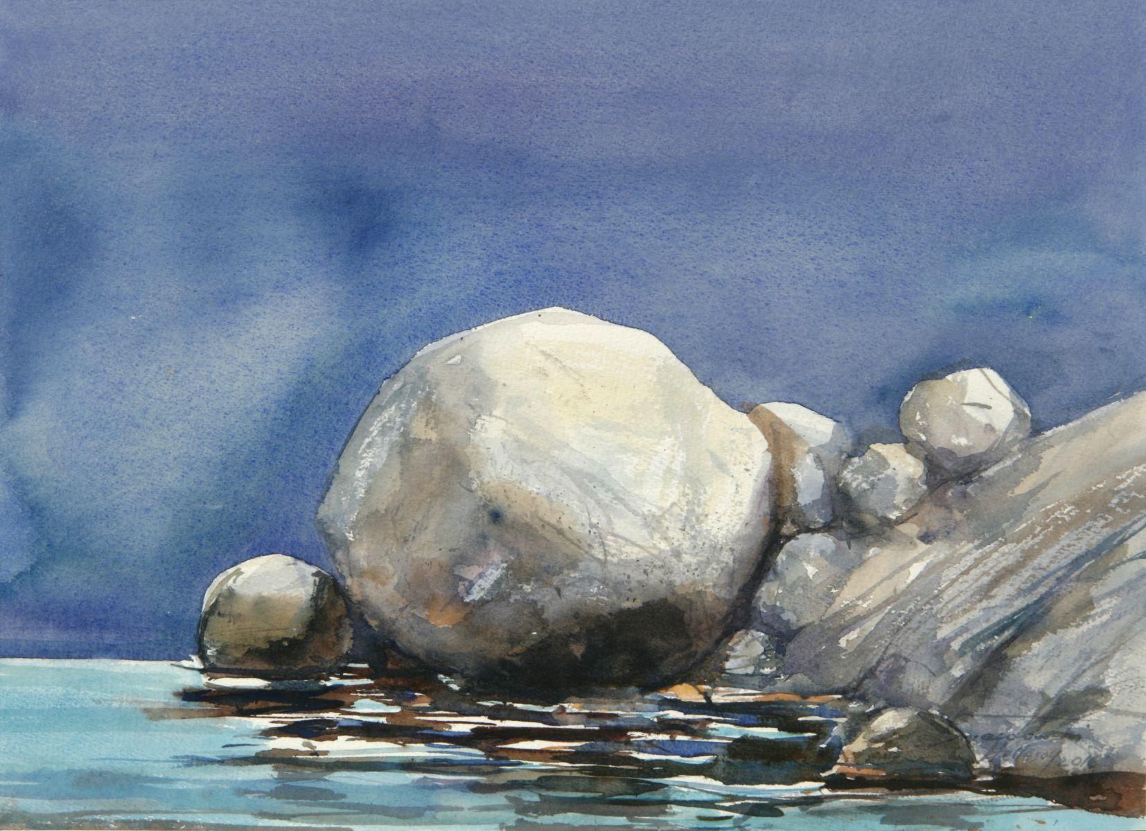 Kamienie w słońcu. 38x27 cm.  Kazimierz Twardowski