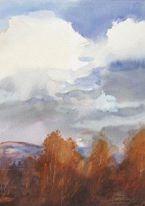 Jesienne chmury. 35x50 cm. Kazimierz Twardowski