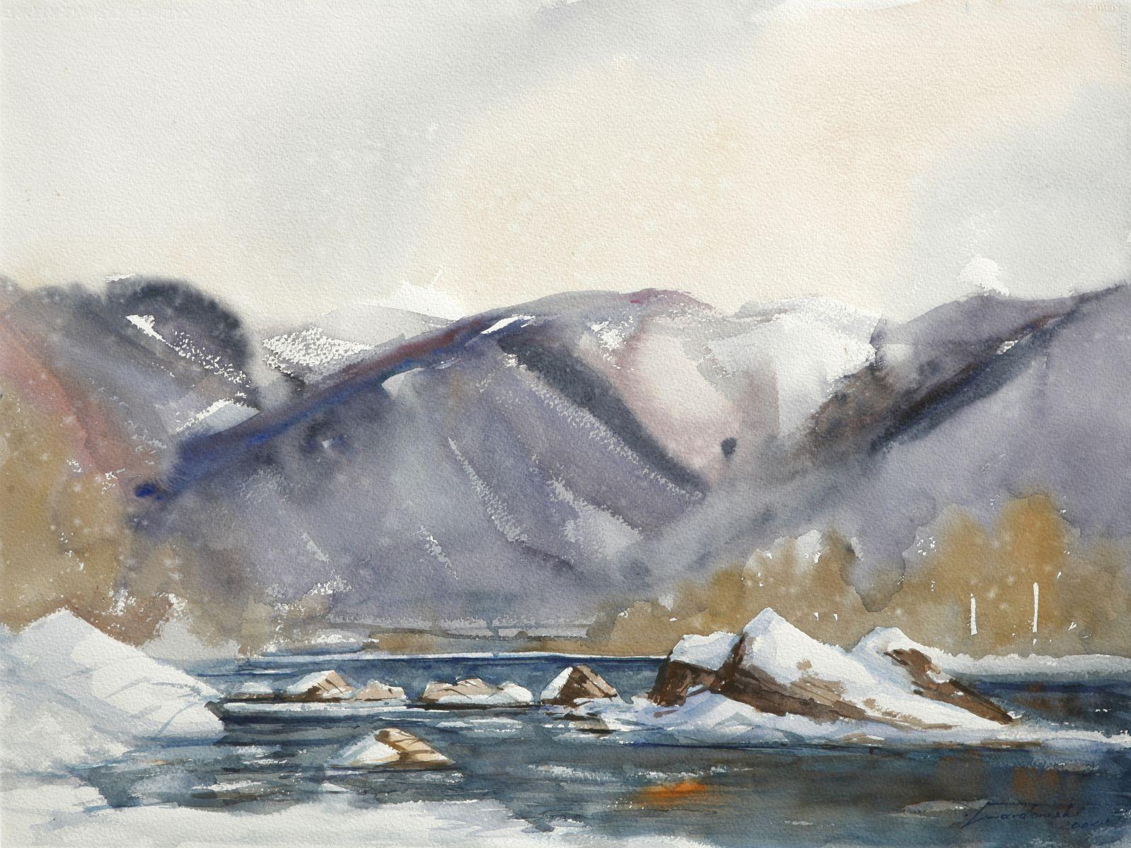Tylmanowa zimą. 76x56 cm. Kazimierz Twardowski