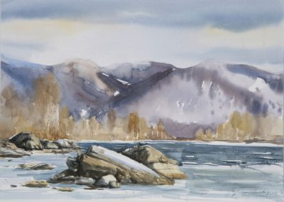 Zima w Tylmanowej. 70x50 cm. Kazimierz Twardowski