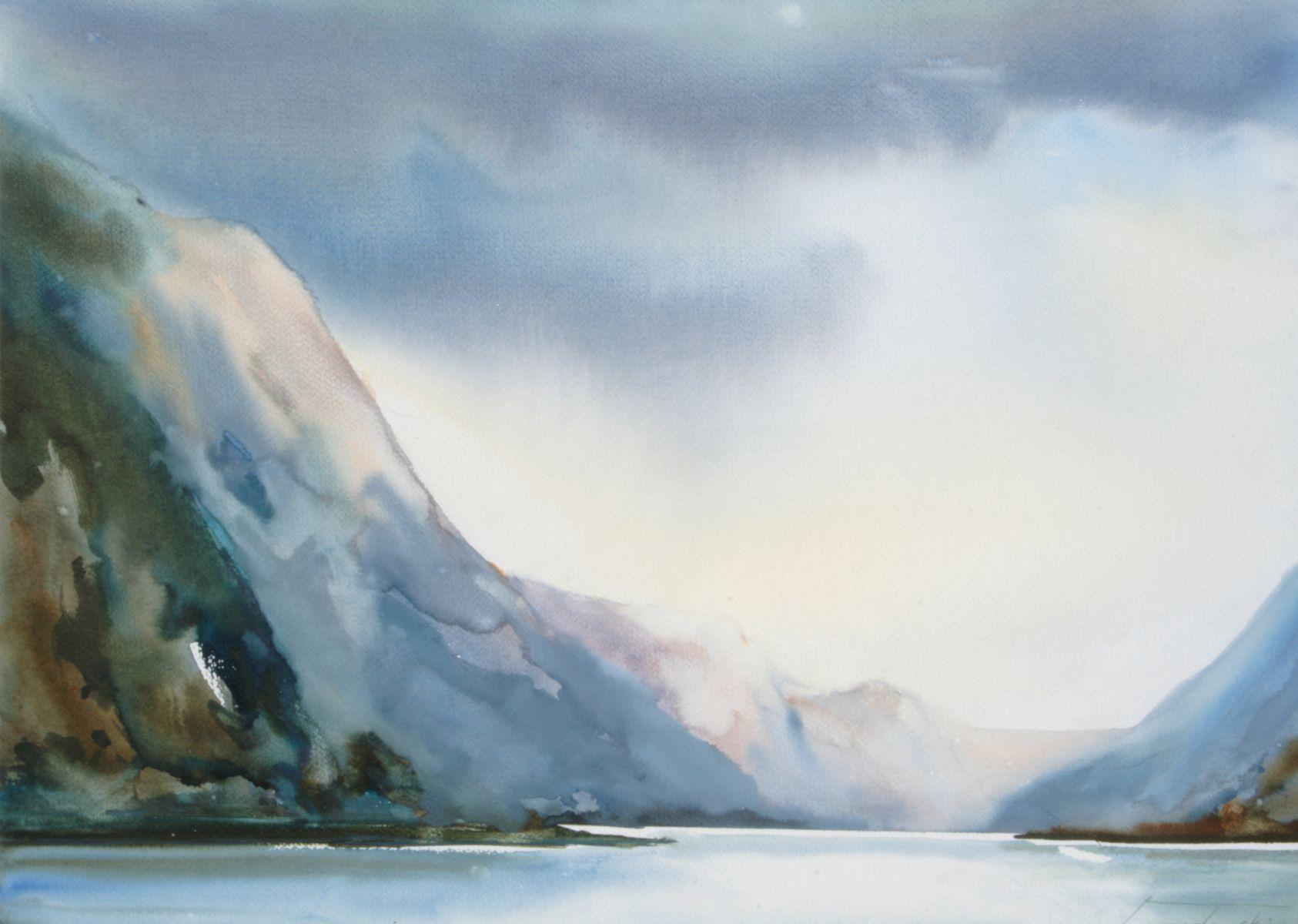 Po burzy nad fjordem. 70x50 cm. Kazimierz Twardowski