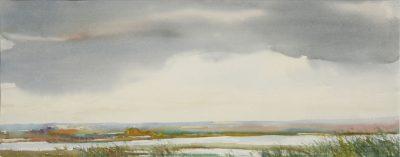 Chmury na Polesiu. 76x28 cm. Kazimierz Twardowski