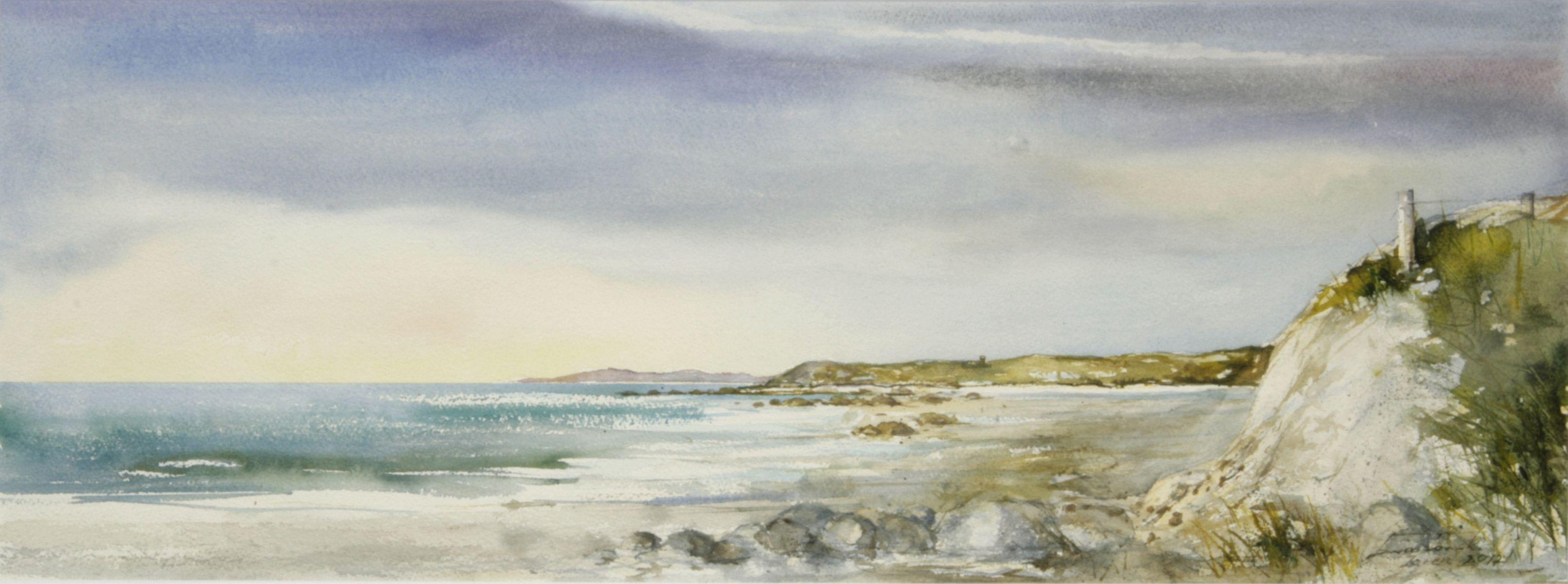 Plaża w Jaren. 76x28 cm. Kazimierz Twardowski