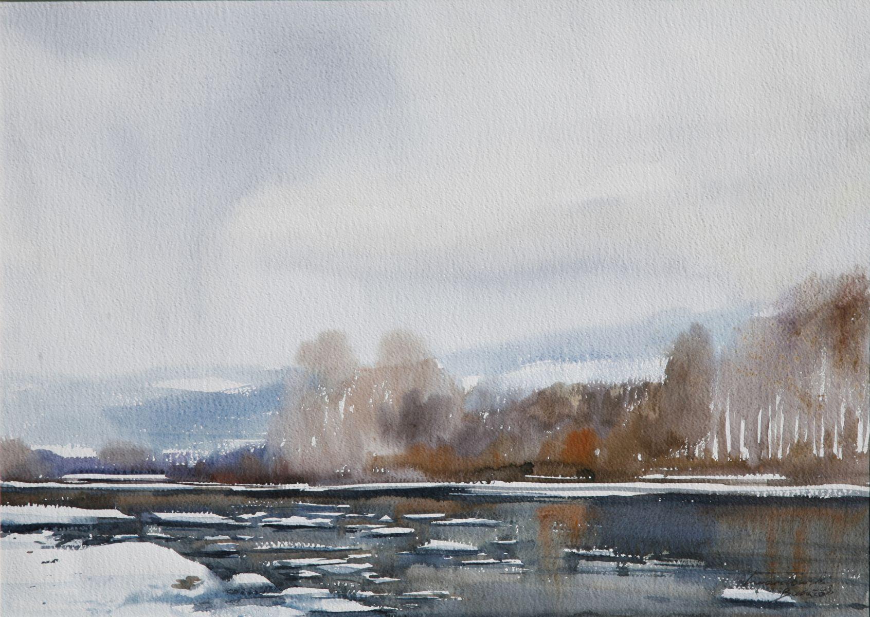 Zima nad Popradem. 70x50 cm. Kazimierz Twardowski