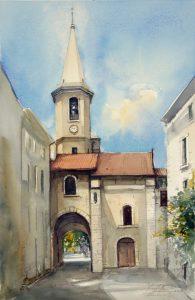 Motyw z Prowansji. 38x56 cm. Kazimierz Twardowski