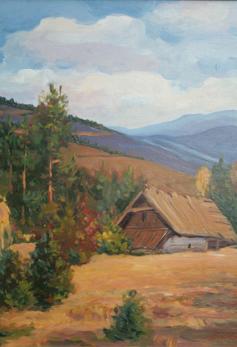Szałas w górach. 40x55 cm. Kazimierz Twardowski