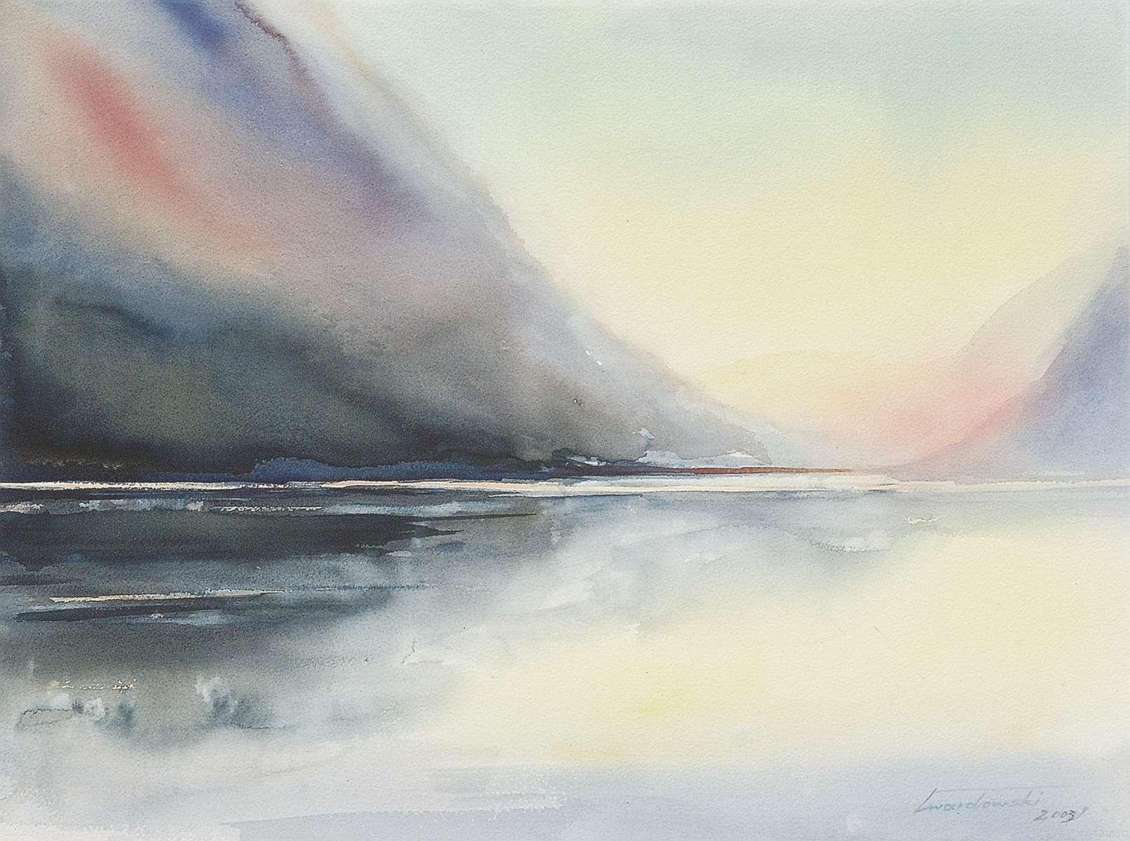 Norweskie światło. 76 x 56 cm. Kazimierz Twardowski