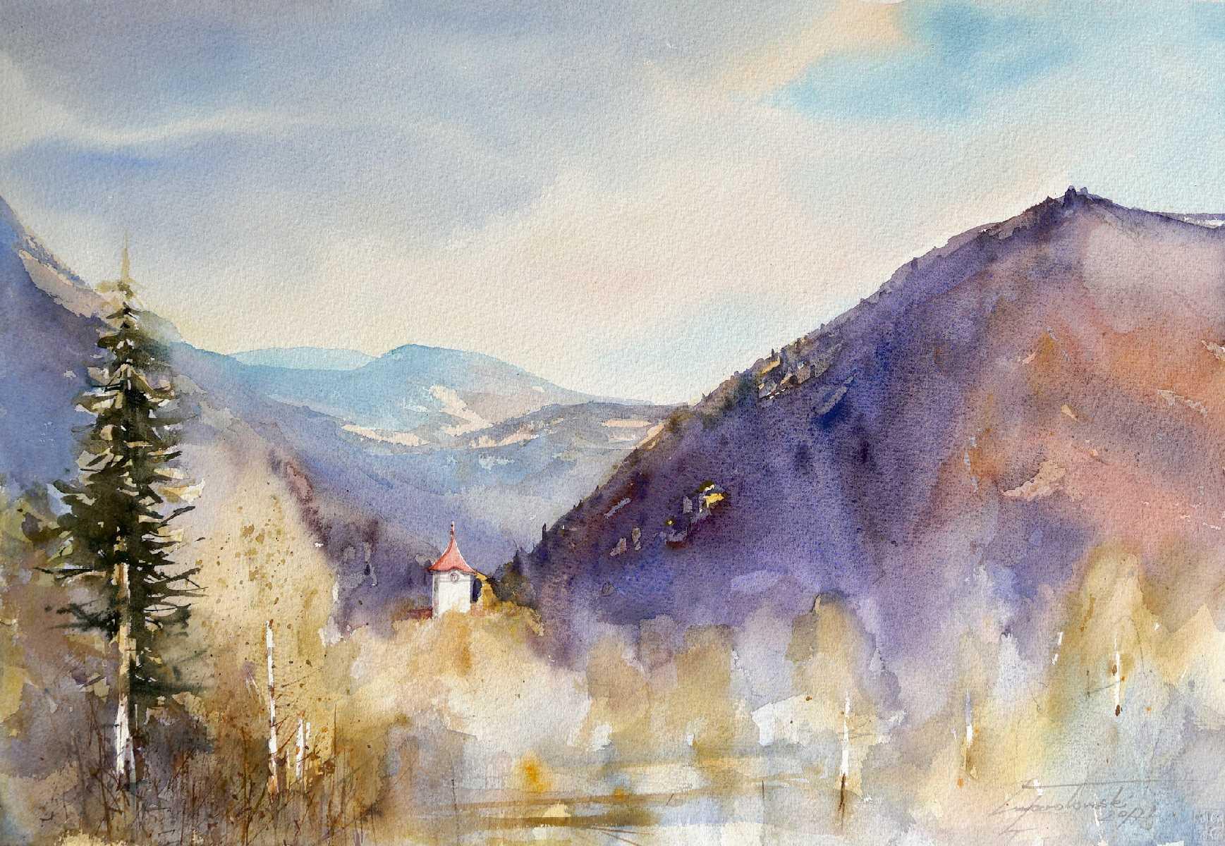 Czerwony Klasztor -  56x38 cm. Kazimierz Twardowski