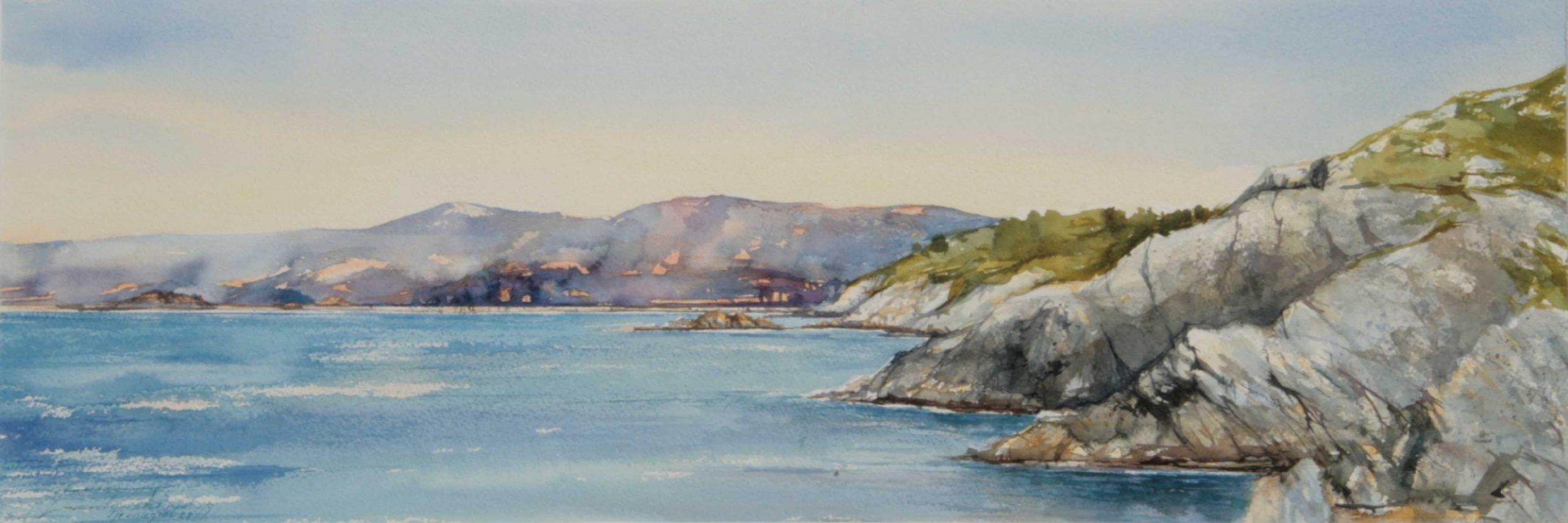 Motyw z Norwegii - Tjernagiel , 76x27 cm. Kazimierz Twardowski