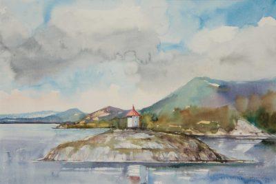 Motyw z Norwegii - Draganes , 56x38 cm. Kazimierz Twardowski