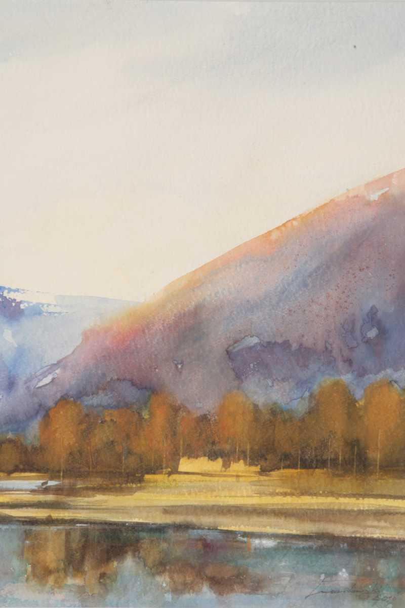 Jesień w Telemarku , 35x50 cm. Kazimierz Twardowski
